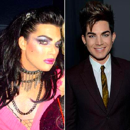 Adam Lambert in Drag Throwback Photo Adam Lambert